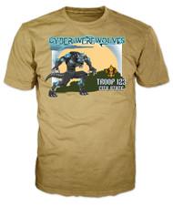 Custom Cyber Werewolves Troop Patrol T-Shirt (SP6906)