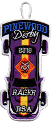 2018 Pinewood Derby Tiger Racer Patch