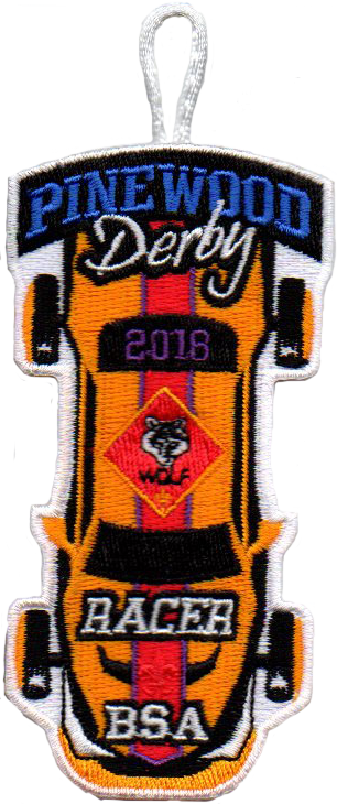 2018 Wolf Cub Scout Racer Patch