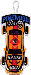 2018 Pinewood Derby Wolf Racer Patch