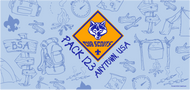 Cub Scout Pack Camp Doodle Water Bottle SP6924
