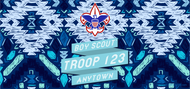 Boy Scout Troop Boho Pattern Water Bottle SP6926