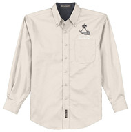 Port Authority® Long Sleeve Easy Care Shirt Men's with Powder Horn Logo