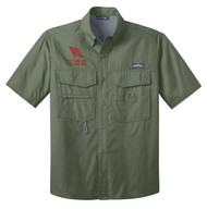 Eddie Bauer® – Short Sleeve Fishing Shirt  with OA Arrowhead Logo