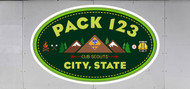 Custom Cub Scout Pack Mountain Oval Trailer Graphic (SP6986)