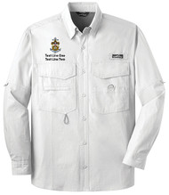 Eddie Bauer® – Long Sleeve Fishing Shirt  with Sea Scout Logo