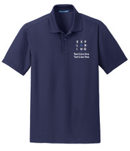 Dry Zone® Grid Wicking Polo with Exploring Logo