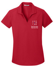 Dry Zone® Grid Ladies Wicking Polo with Exploring Logo