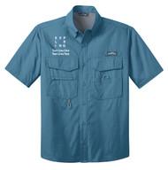 Eddie Bauer® – Short Sleeve Fishing Shirt  with Exploring Logo