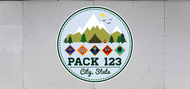 Custom Cub Scout Pack Mountains Trailer Graphic (SP7021)