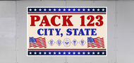 Custom Cub Scout Pack Waving Flags Trailer Graphic (SP7022)