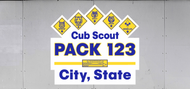 Custom Cub Scout Pack Ranks & Arrow Of Light Trailer Graphic (SP7025)