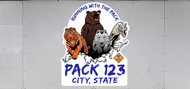 Custom Cub Scout Pack Running With The Pack Trailer Graphic (SP7026)