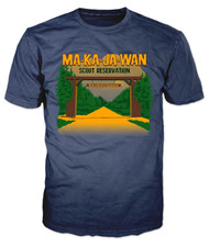 100% Cotton Short Sleeve T-Shirt Ma-Ka-Ja-Wan Scout Reservation 2018