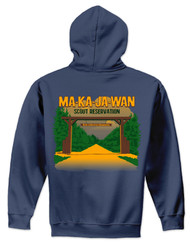 50/50 Hooded Sweatshirt - Ma-Ka-Ja-Wan Scout Reservation 2018