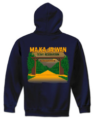 50/50 Zip Hooded Sweatshirt - Ma-Ka-Ja-Wan Scout Reservation 2018