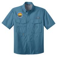 Eddie Bauer Short Sleeve Fishing Shirt -  Camp V-Bar