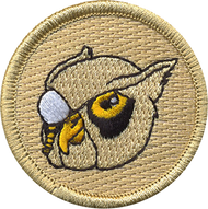 Monocle Owl Patrol Patch