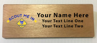 Scout Me In Cub Scout Logo Wooden Name Tag