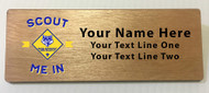 Scout Me In Large Cub Scout Logo Wooden Name Tag