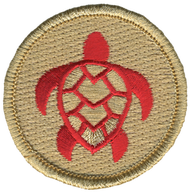 Red Loggerhead Sea Turtle Patrol Patch