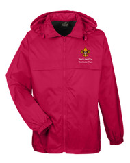 Boy Scouts Red Hooded Jacket with BSA Universal Logo