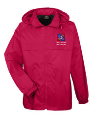 Boy Scouts Red Hooded Jacket with BSA NYLT Logo