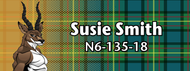 Wood Badge Tough Antelope Tartan Starburst Name Tag