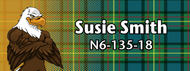 Wood Badge Tough Eagle Tartan Starburst Name Tag