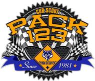 Custom Cub Scout Pack Race Gear Car Sticker (SP5416)
