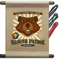 Custom Wood Badge Beaver Patrol Mini Flag - Sunray (SP DP5133)