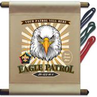 Custom Wood Badge Eagle Patrol Mini Flag - Sunray (SP DP5132)