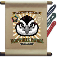 Custom Wood Badge Bobwhite Patrol Mini Flag - Sunray (SP DP5131)