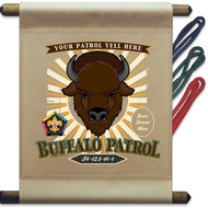 Custom Wood Badge Buffalo Patrol Mini Flag - Sunray (SP DP5129)