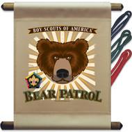 Wood Badge Bear Patrol Mini Flag (SP5141)