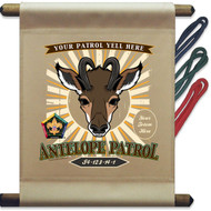 Custom Wood Badge Antelope Patrol Mini Flag - Sunray (SP DP5126)