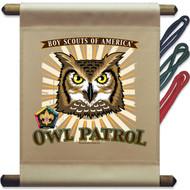 Wood Badge Owl Patrol Mini Flag (SP5138)