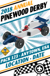 Custom Cub Scout Pack Pinewood Derby Poster -  Pinewood Car (SP4648)