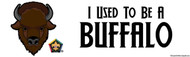 Wood Badge Buffalo Bumper Sticker - White (SP5075)