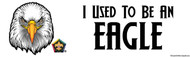 Wood Badge Eagle Bumper Sticker- White (SP5077)