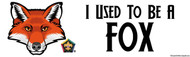 Wood Badge Fox Bumper Sticker - White (SP5079)