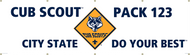 Custom Cub Scout Pack Banner with Cub Scout logo (SP5028)