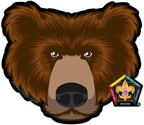 Wood Badge Bear Car Window Sticker Sp5391 Classb
