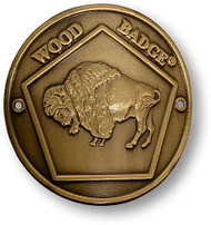 Wood Badge® Buffalo Hiking Stick Medallion