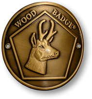 Wood Badge® Antelope Hiking Stick Medallion