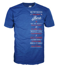 Blue Scout Oath T-shirt (SP4595)