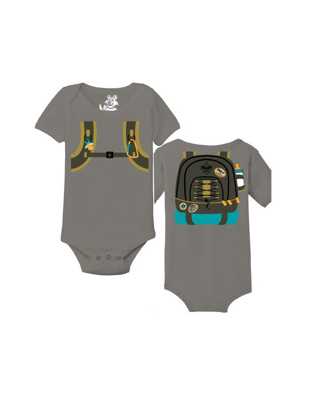 boy scout baby backpack toddler bodysuit