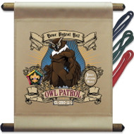 Custom Wood Badge Owl Patrol Mini Flag - Mighty