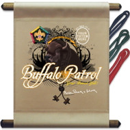 Custom Wood Badge Buffalo Patrol Mini Flag (SP3255)