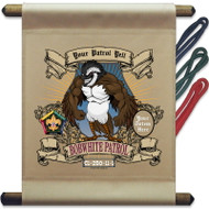 Custom Wood Badge Bobwhite Patrol Mini Flag - Mighty (SP3250)